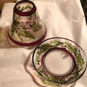 Yankee candle shade & plate